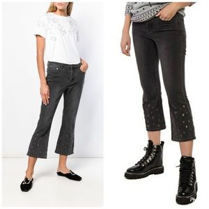 Micheal Kors Stud Detailed Crop Trousers